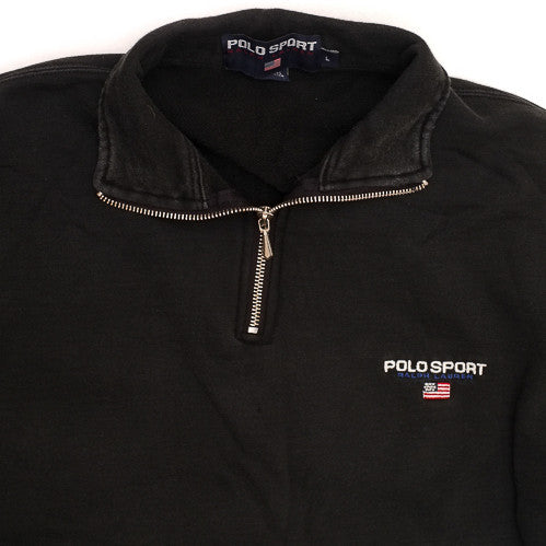 Polo Sport Black Half Zip