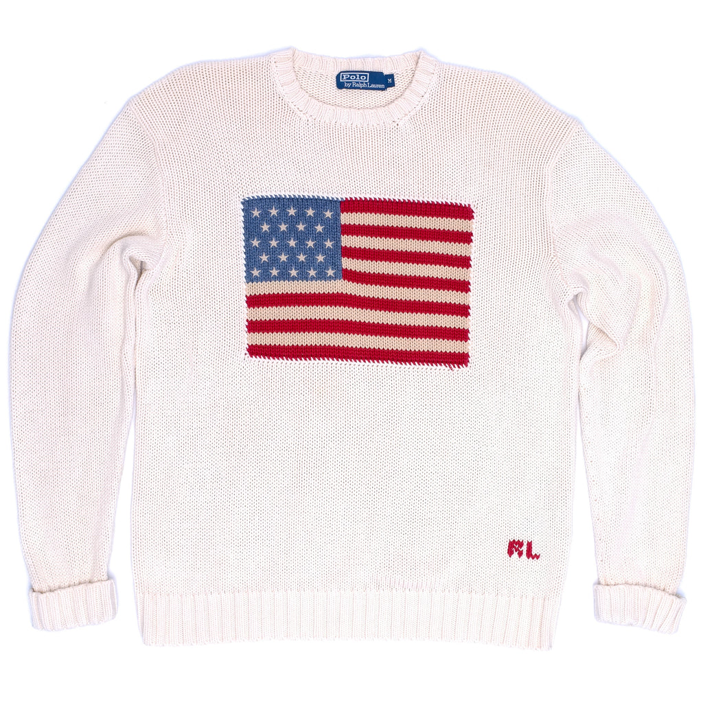 Ralph Lauren Flag Knit White