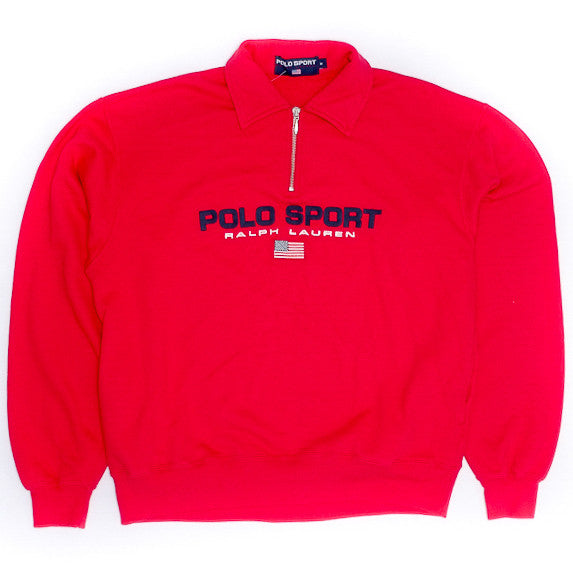 Polo Sport Half-zip Red