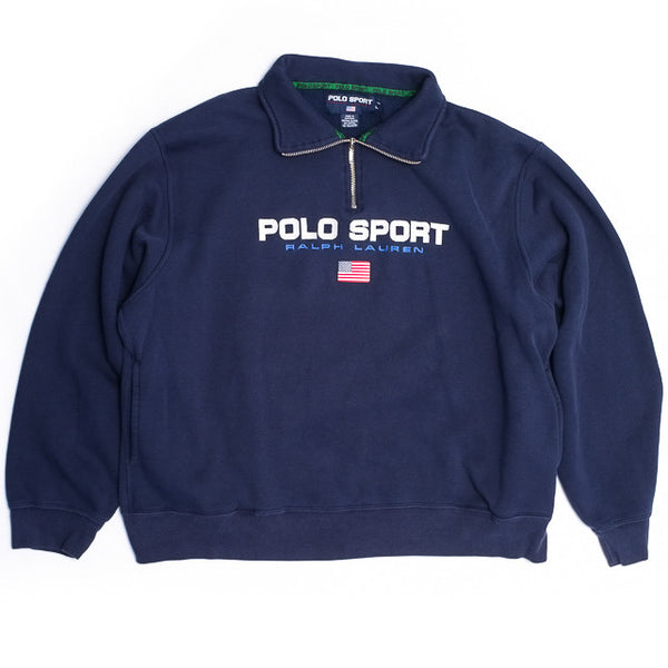 Polo Sport Navy Half-Zip