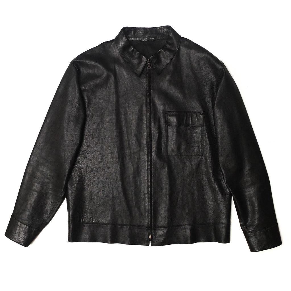 Jil Sander by Raf Simons Laser Cut Nappa Leather Shirt