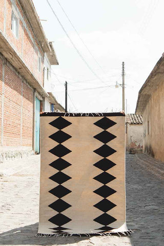 Grey & Black Zapotec Rug