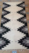 Cream & Sage Diamond Rug