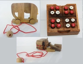 Try one of our wooden kids toys - Triple Fun
