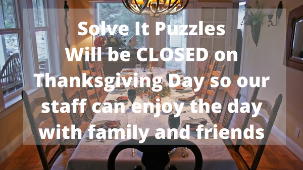 Closed on Thanksgiving Day!
