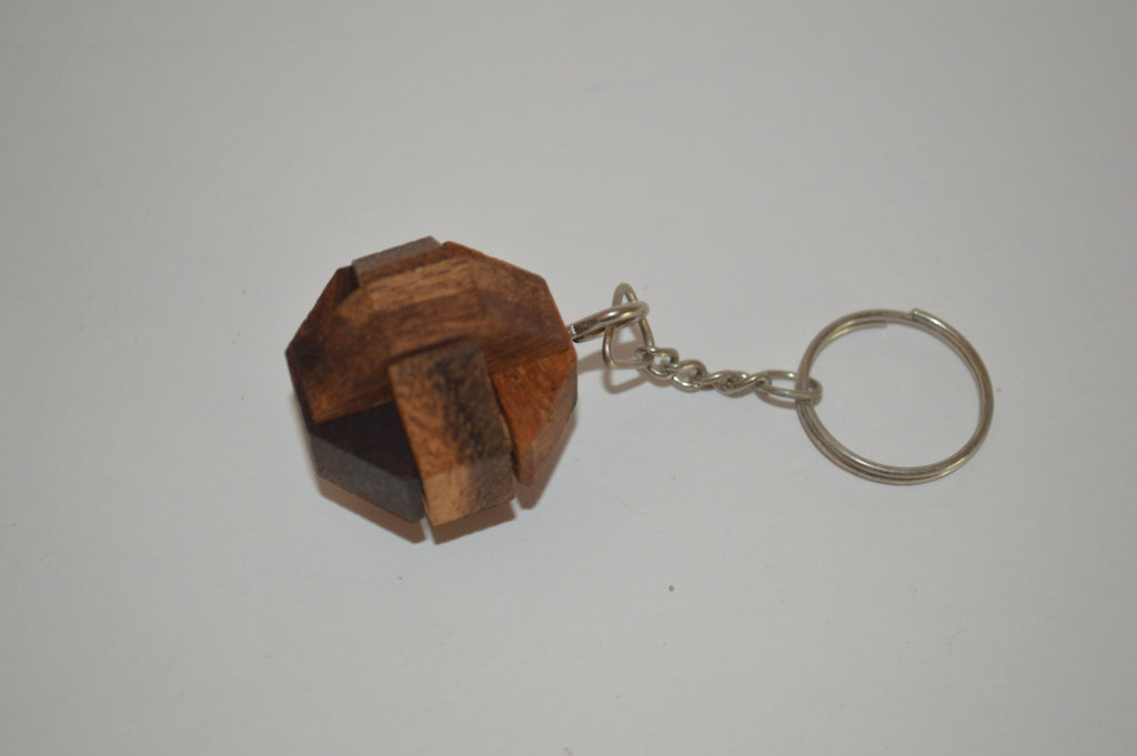 Nails Key chain - Wooden Puzzle