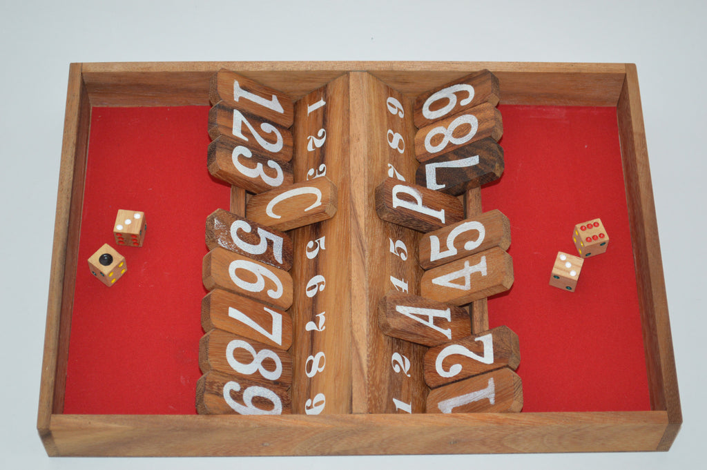 Double Shut the Box - Wooden Game