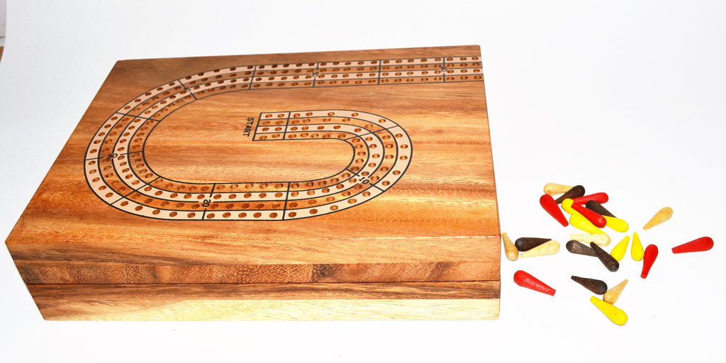 Cribbage Board 4 players - Wooden Game
