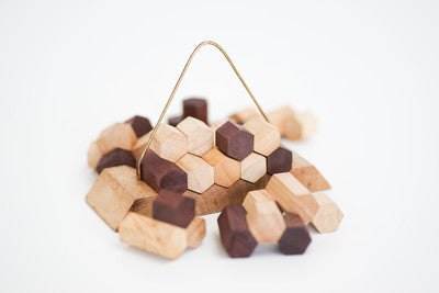 HoneyComb Pyramid - Wooden Puzzle