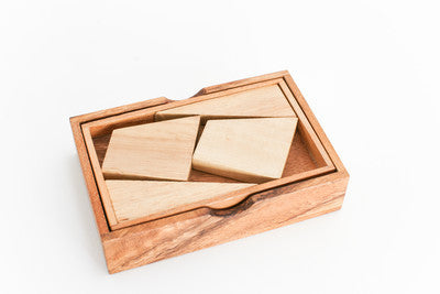 4 Pieces Packing Problem - Brain Teaser Wooden Puzzle