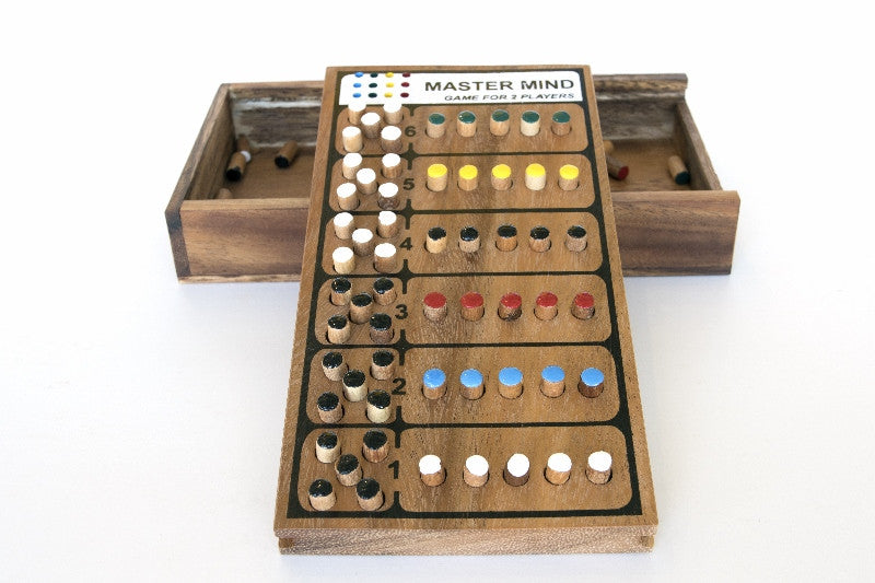 Master Mind Wooden Game Solve It Think Out Of The Box Fascinating Wooden Mastermind Game