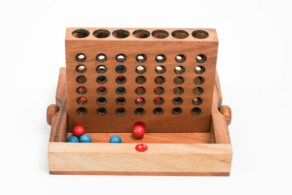 Connect Four O - Wooden Game