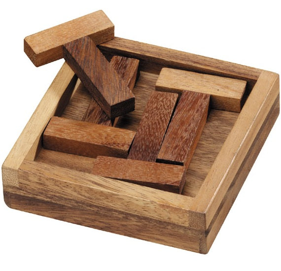 Four T Wooden Puzzle - Packing Problem