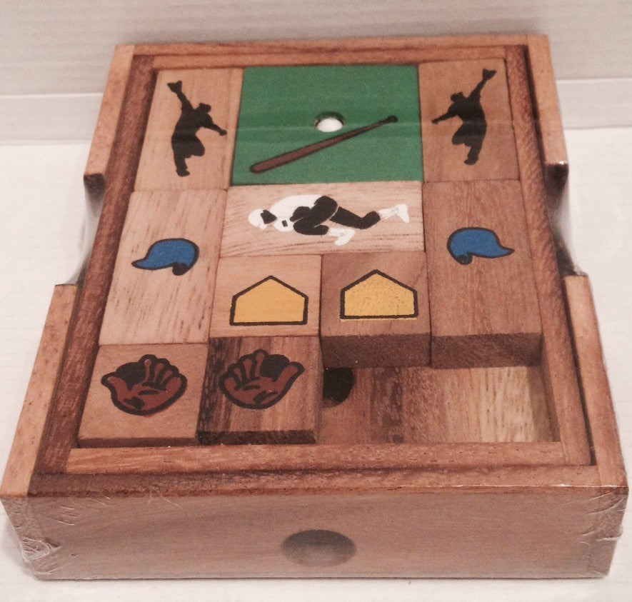 Baseball Escape Wooden Puzzle Solve It Think Out Of The Box Gorgeous Wooden Baseball Game Toy