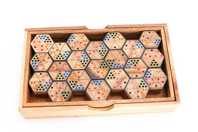 Hex Domino - Wooden Game