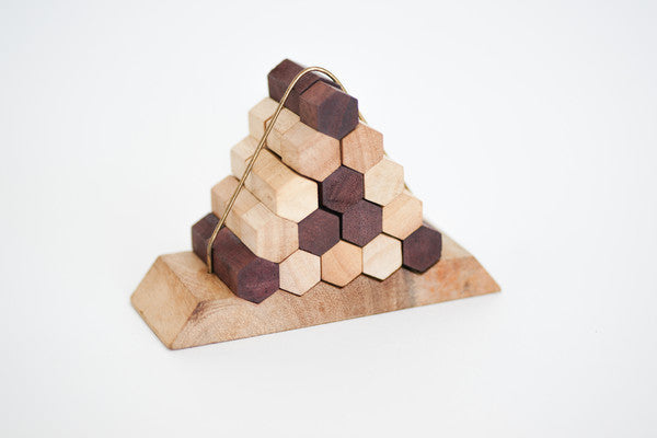 Honey Comb Pyramid - Wooden Puzzle