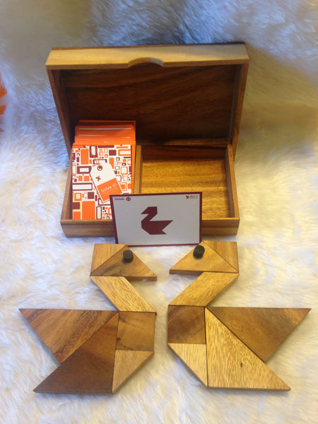Tangram (2 x 7 Pieces)- Wooden Puzzle