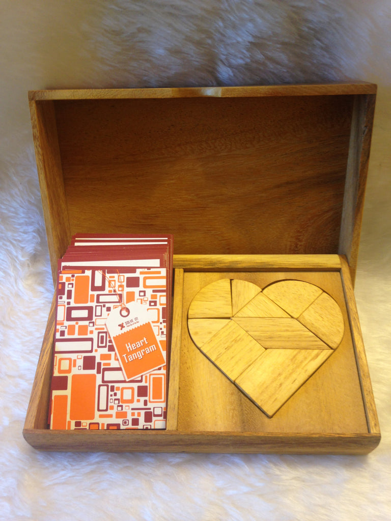 Heart Tangram - Wooden Puzzle