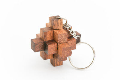 Crystal Keychain - Wooden Puzzle