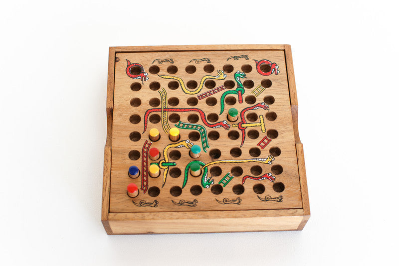 Snakes (Chutes) & Ladders - Wooden Game