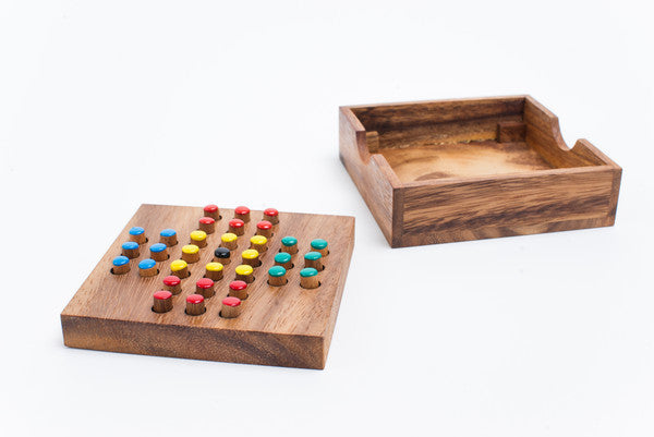 Peg Solitaire - Wooden Game