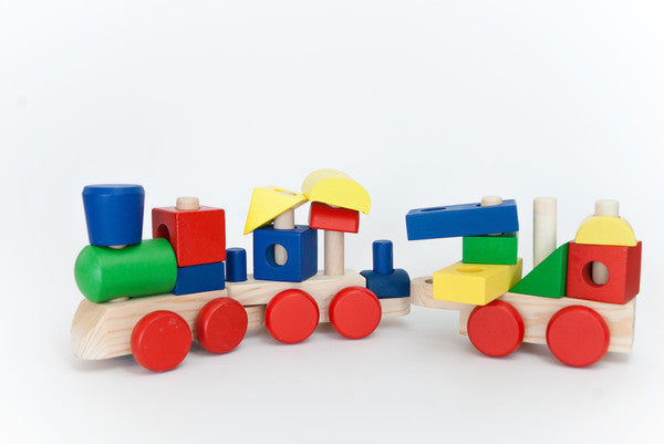 Stacking Train - Kids Wooden Puzzle