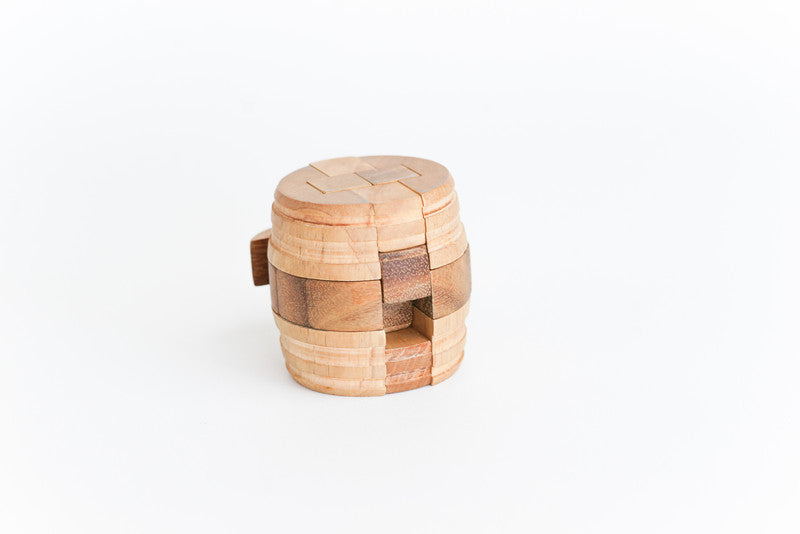 The (wine) Barrel - Interlocking Wooden Puzzle