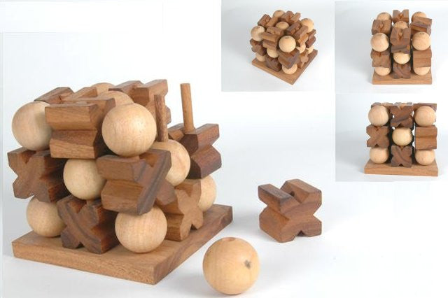 Giant 3D Tic Tac Toe  - Strategy Wooden Game