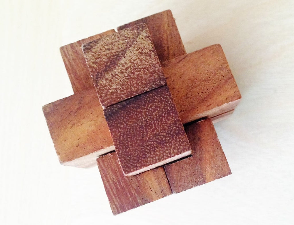 6 pc Burr - Brain Teaser Wooden Puzzle