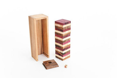 Colored Gentle Tower - Wooden Stacking Game