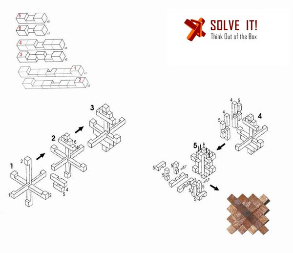 Wood Puzzle Brain Teasers - 0425