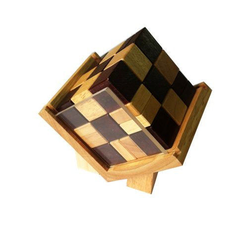 Cube in Box - Wooden Puzzle