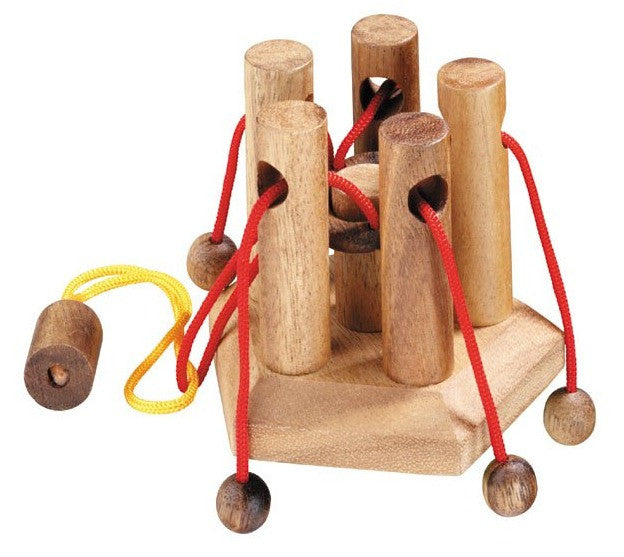 Family Tie - Wooden String puzzle