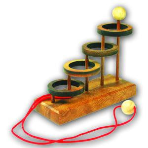 Four Rings - Wooden String Puzzle
