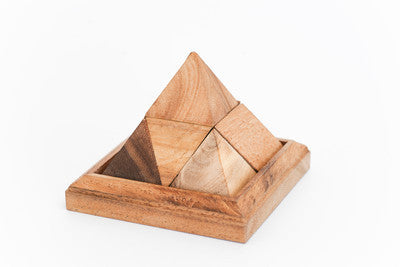 Pyramid 7 Pieces - Wooden Puzzle
