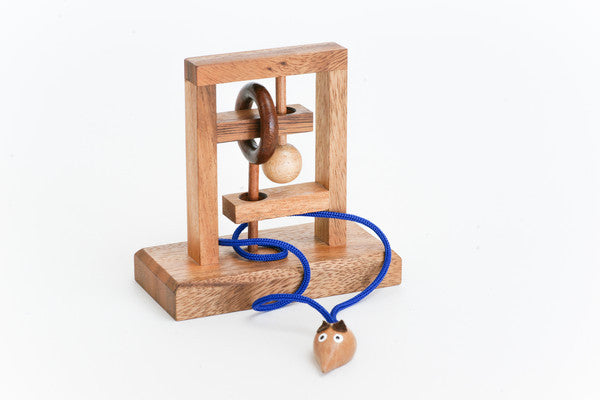 The Rat (Mouse) Trap - Wooden String Brainteaser Puzzle