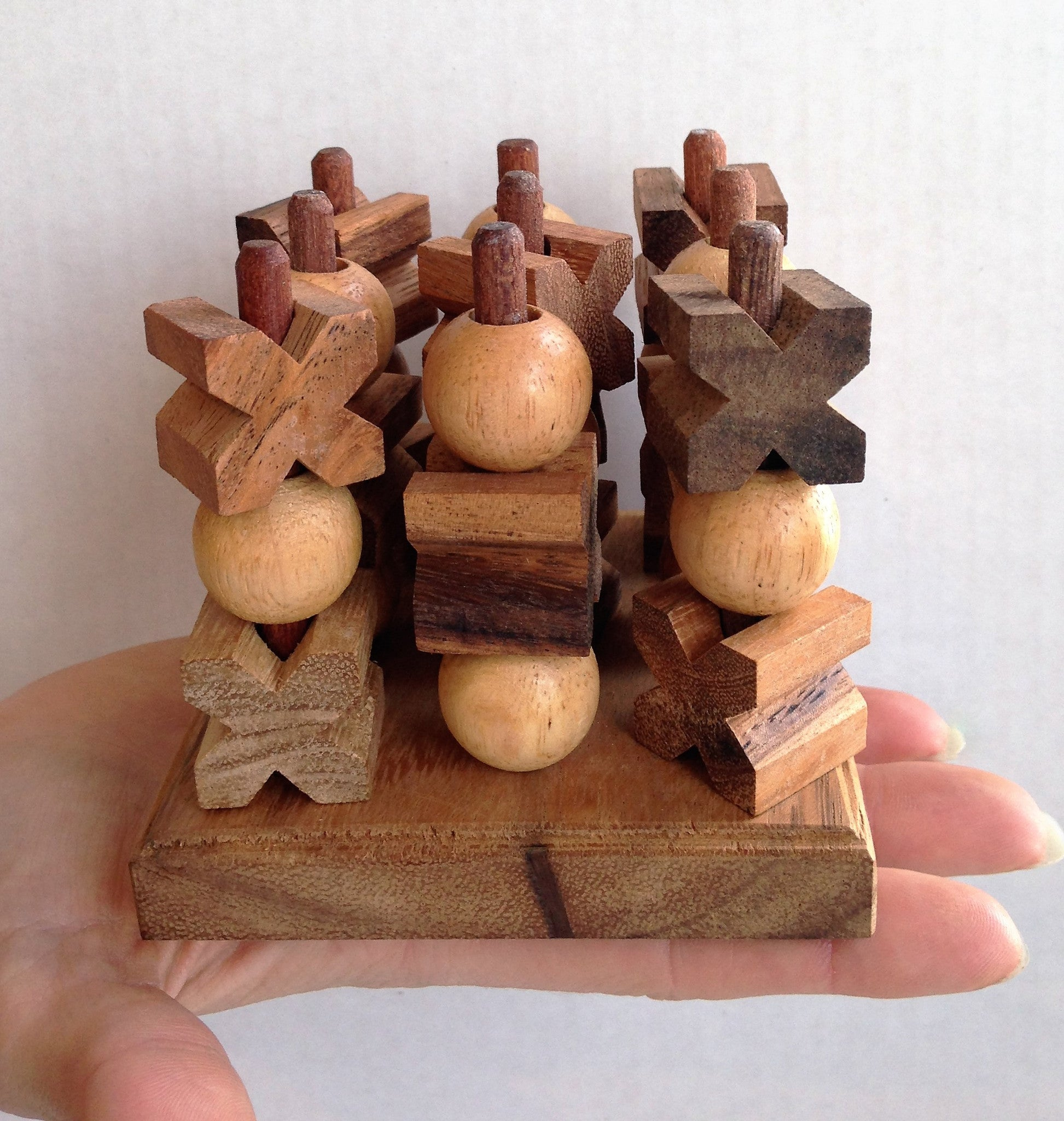 3d Tic Tac Toe Small Strategy Wooden Game