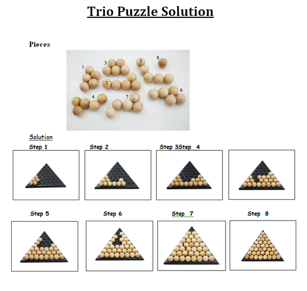 Trio Puzzle Wooden Puzzle Solve It Think Out Of The Box