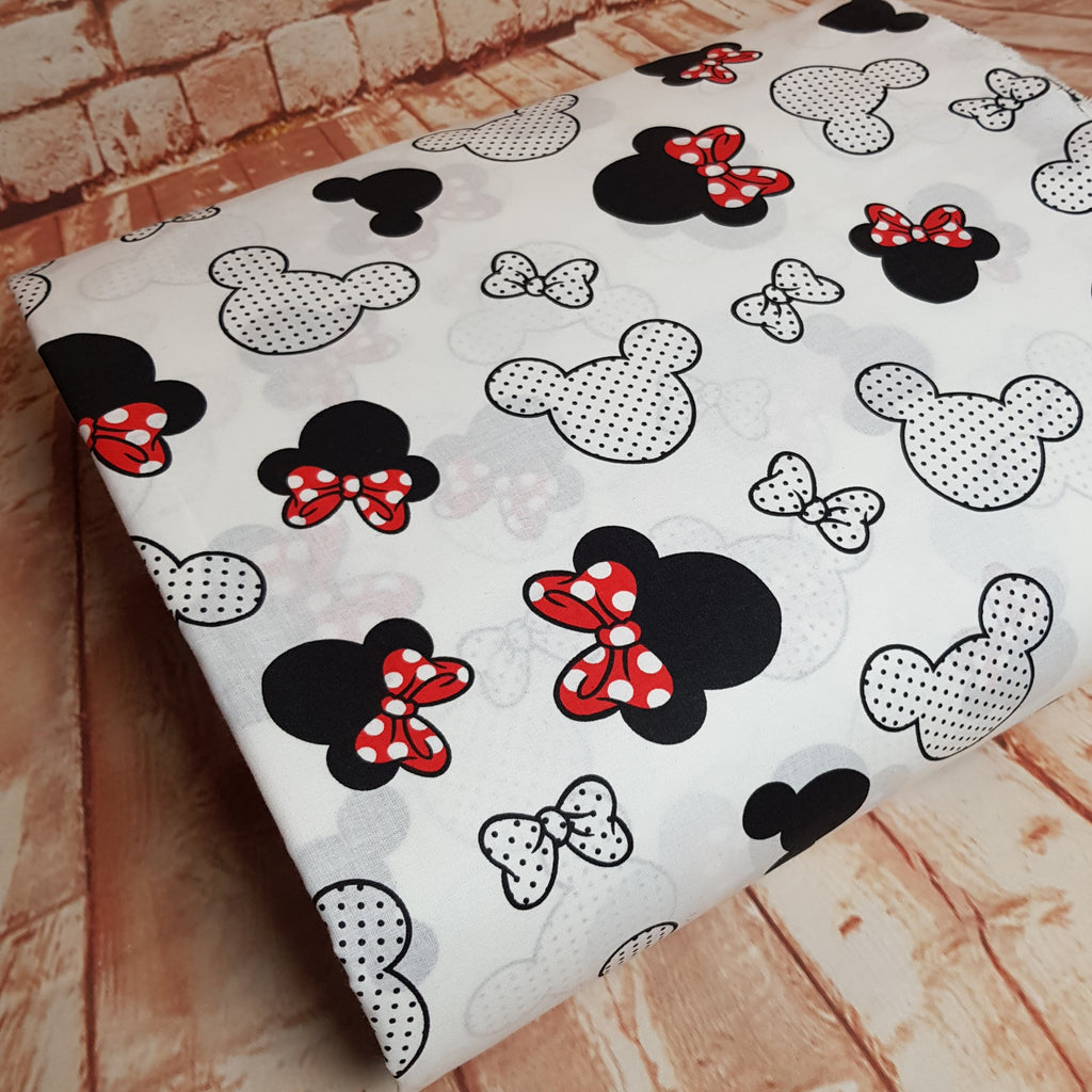 Minnie White Cotton, sold by half metre