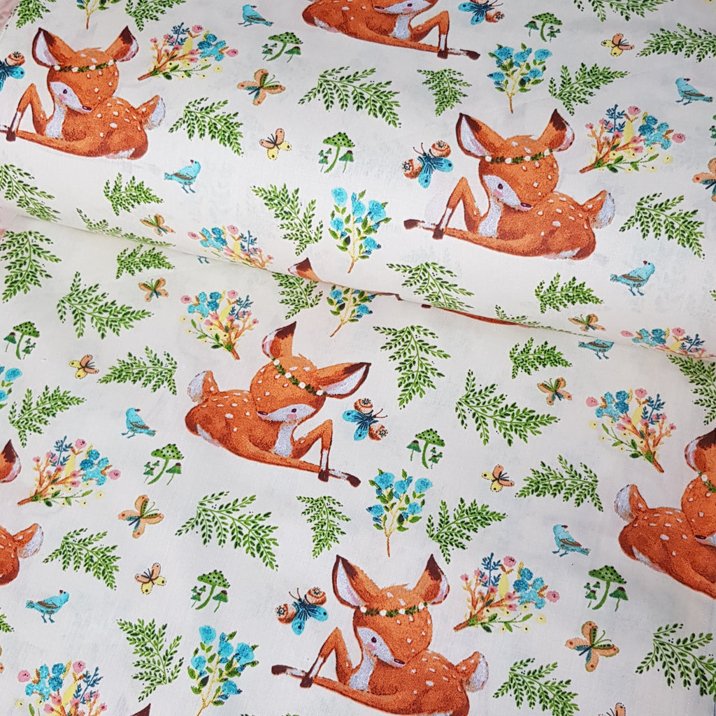Fawn Cotton, sold by half metre