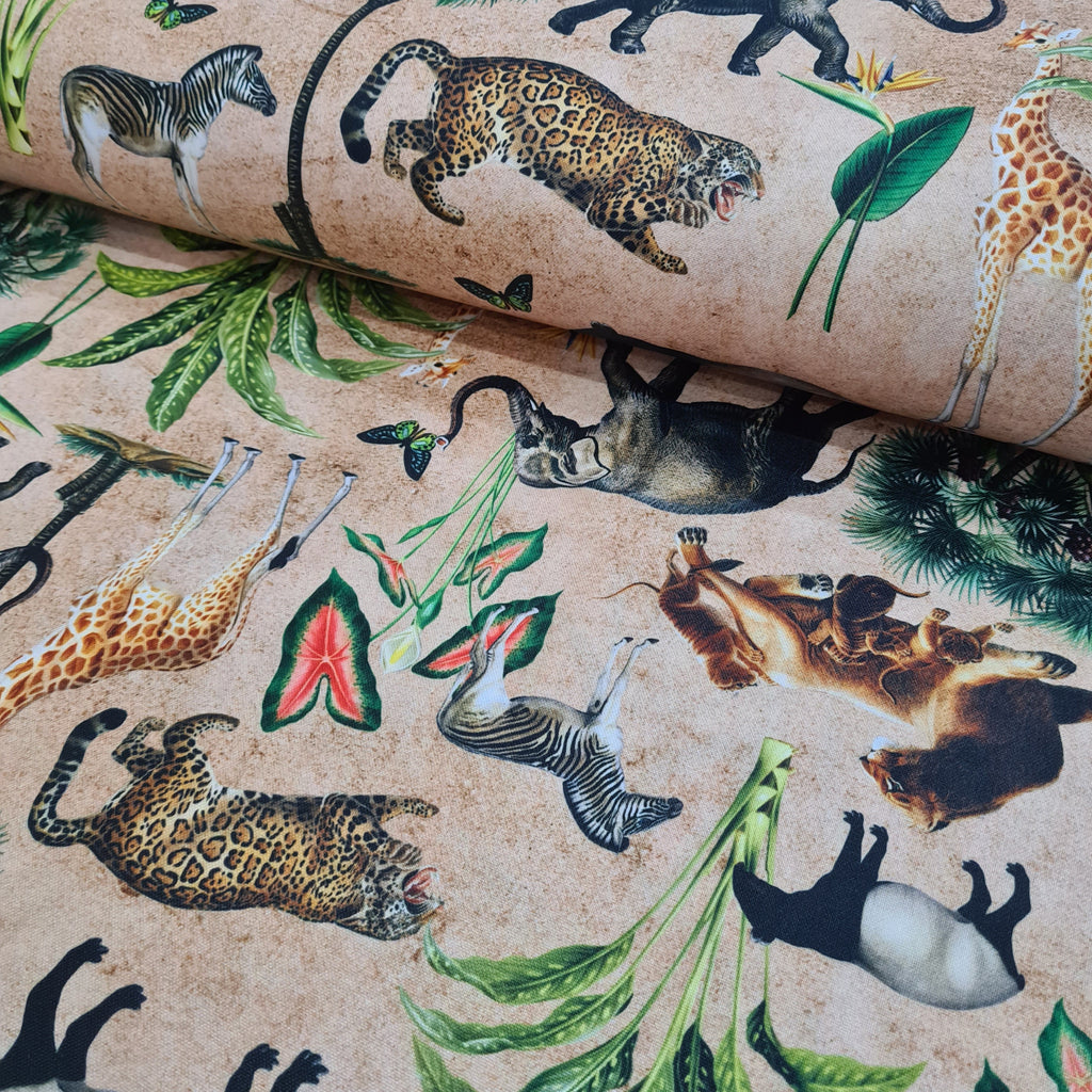Wild Tropic Sand Waterproof Fabric, sold by half metre