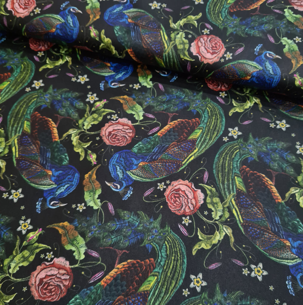 Peacock Waterproof Fabric, sold by half metre