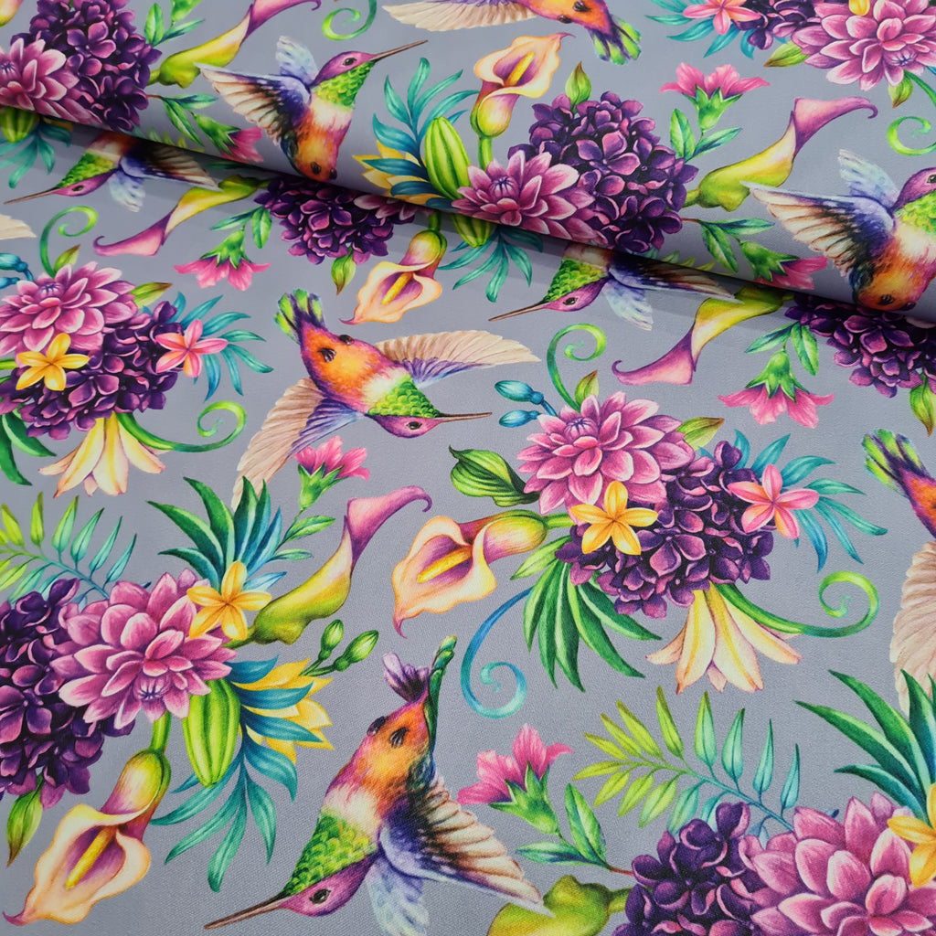 Hummingbirds Waterproof Fabric, sold by half metre
