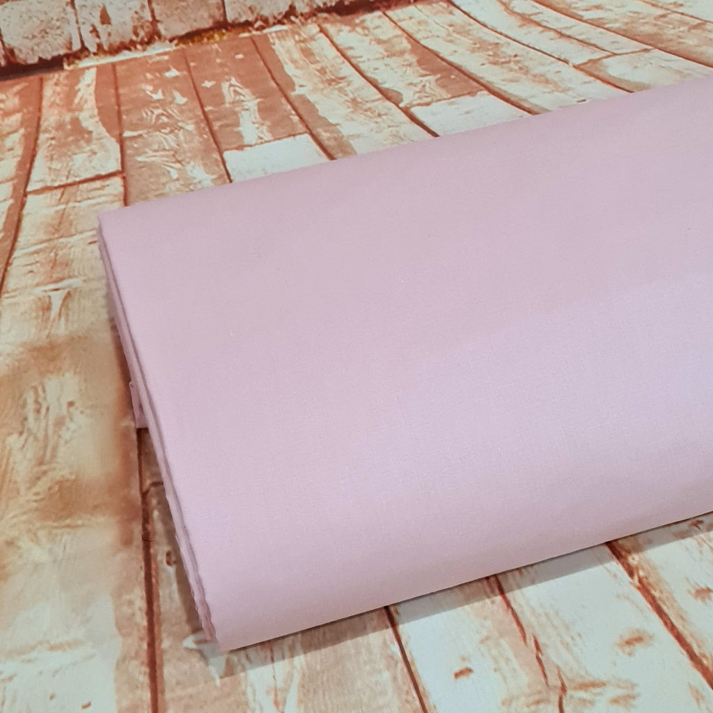 Plain Baby Pink Cotton, sold by half metre