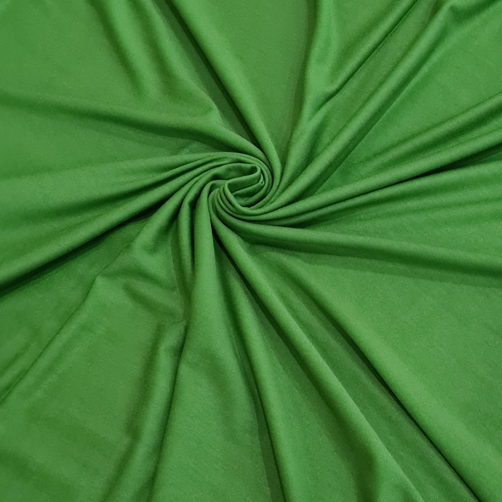 Forest Green Viscose Jersey, sold by half metre