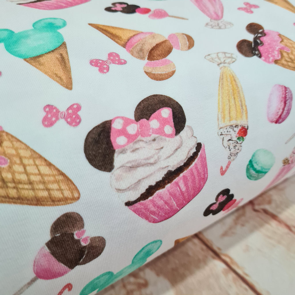 Minnie Sweets Jersey, sold by half metre