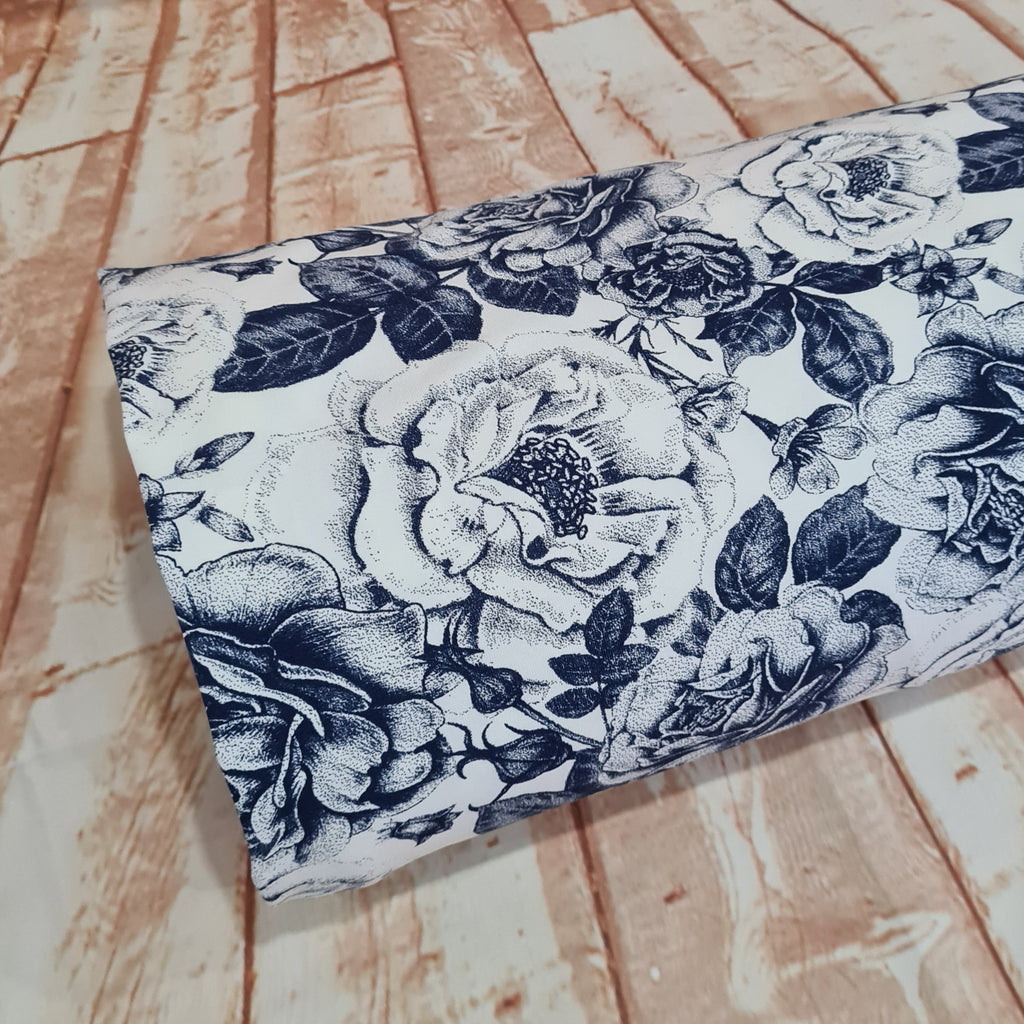 Porcelain Roses Jersey, sold by half metre