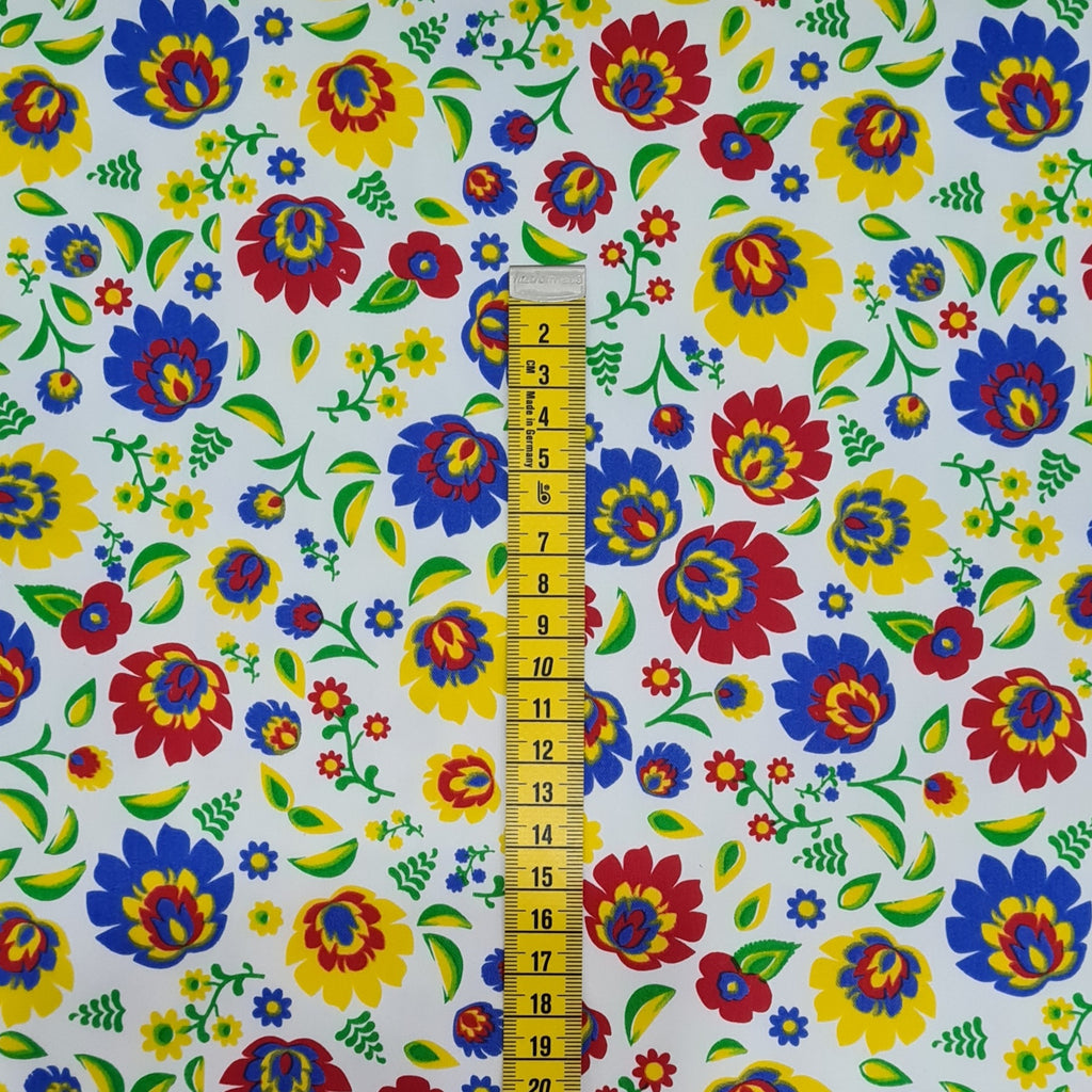 Folk White Heavy Twill Cotton, sold by half metre