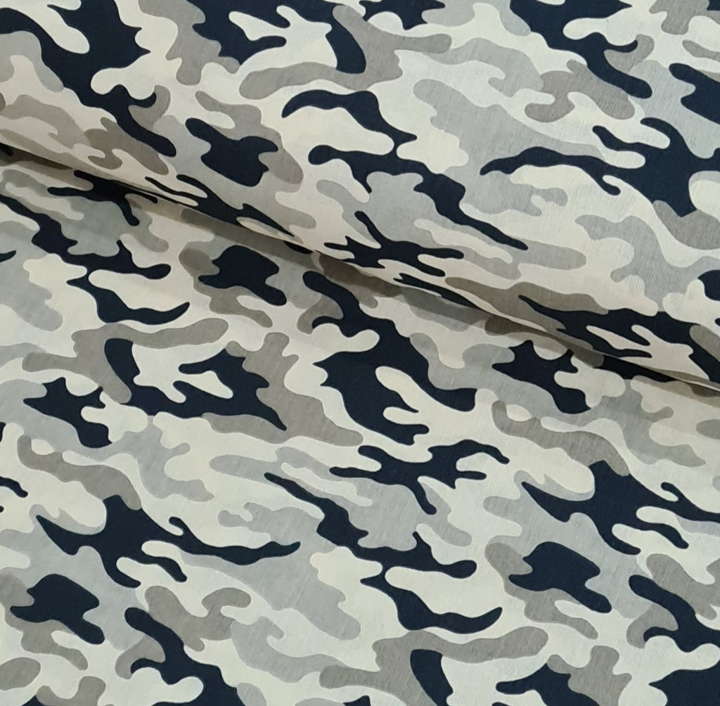 Camouflage Beige Cotton, sold by half metre