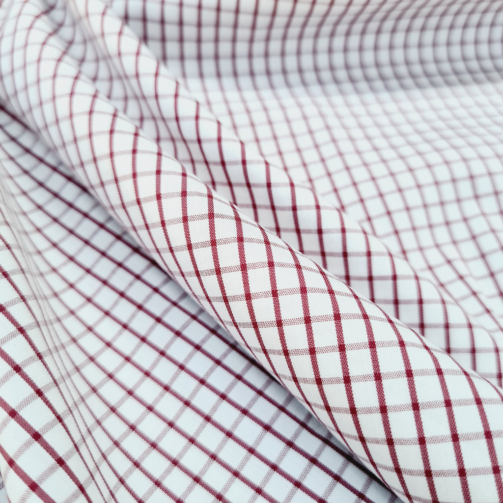 Premium Shirting Polycotton Checks, sold by half metre